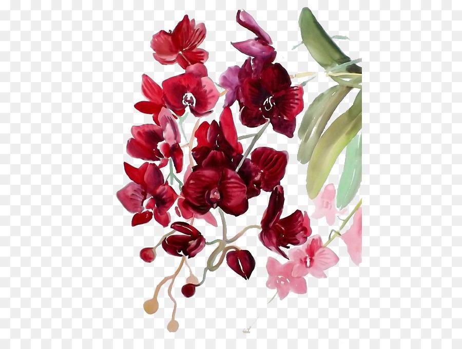 Descarga gratuita de Pintura A La Acuarela, Acuarela De Flores, Pintura imágenes PNG