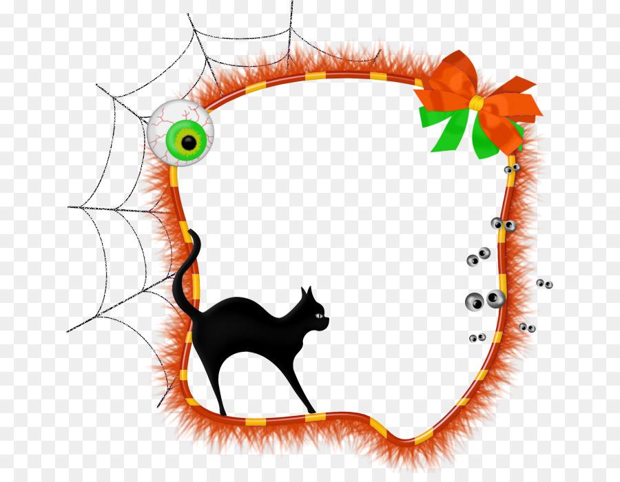 Descarga gratuita de Marcos De Imagen, Jackolantern, Gato Negro Imágen de Png