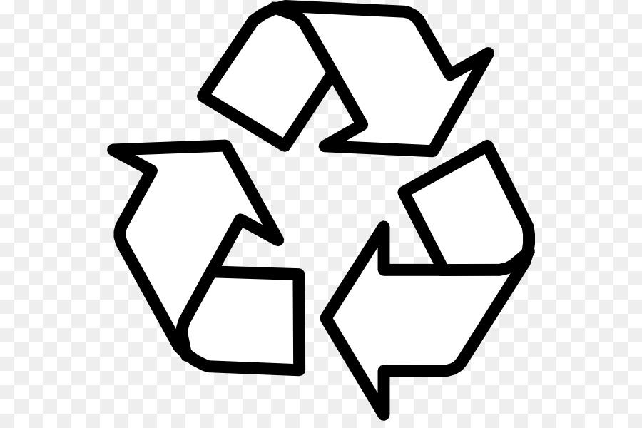 Símbolo De Reciclaje Reciclaje Libro Para Colorear Imagen