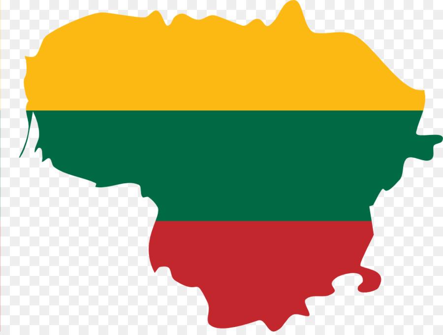 Descarga gratuita de Lituania, Mapa, Bandera Imágen de Png