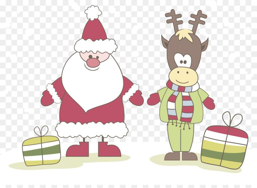 Descarga gratuita de Santa Claus, Reno, La Navidad imágenes PNG
