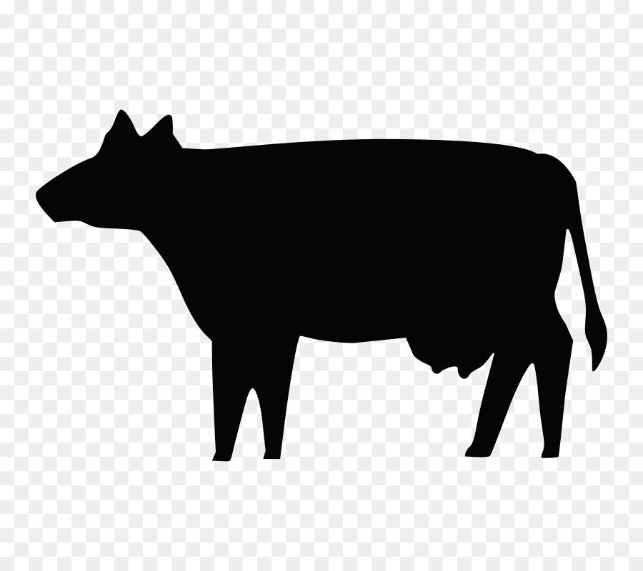 Descarga gratuita de Ganado Holstein Friesian, Silueta, Granja imágenes PNG