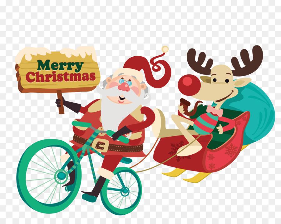 Descarga gratuita de La Señora Claus, Santa Claus, Bicicleta Imágen de Png