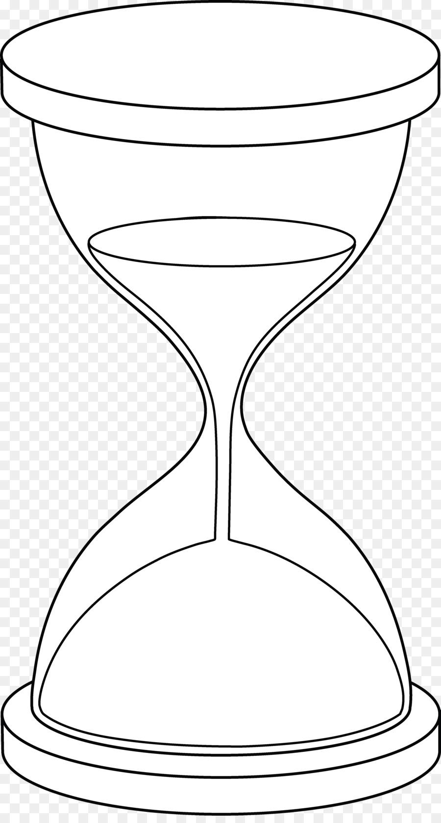 Reloj De Arena Libro Para Colorear Dibujo Imagen Png