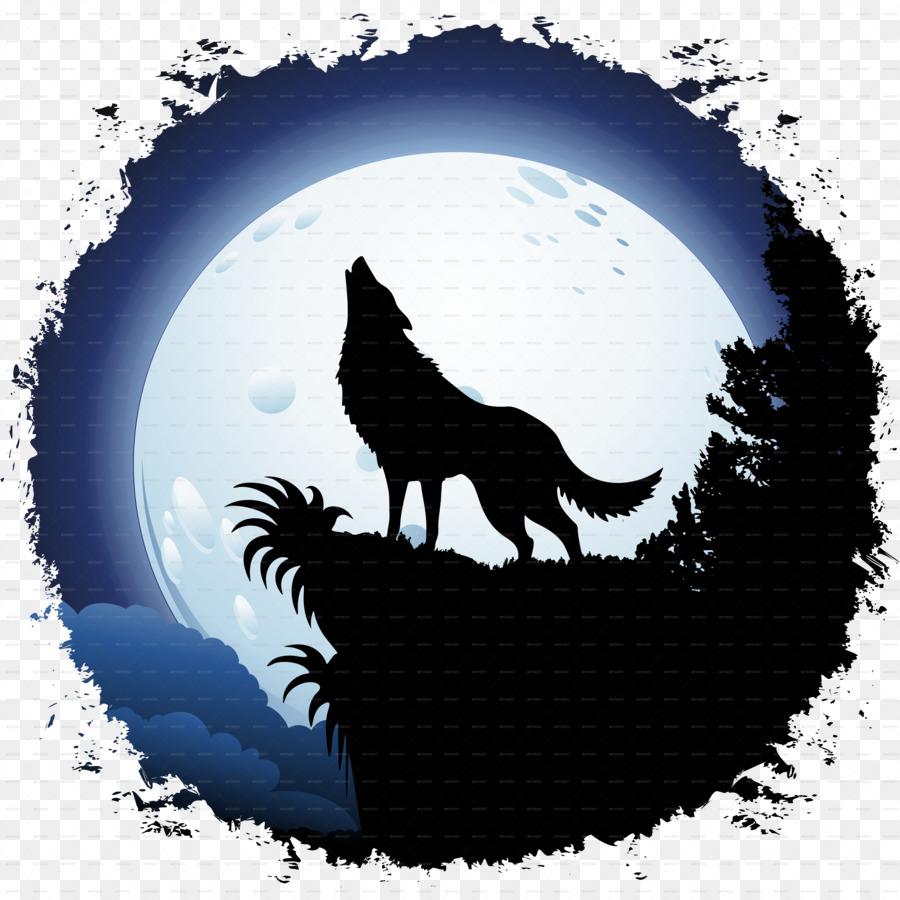 Descarga gratuita de Lobo Gris, Luna, Coyote imágenes PNG