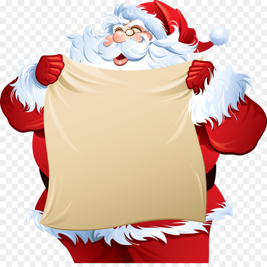 Descarga gratuita de Santa Claus, La Navidad, Lista De Artículos Deseados Imágen de Png
