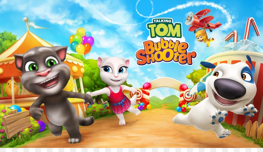 Descarga gratuita de Mi Talking Tom, Bubble Shooter, Talking Tom Oro Ejecutar imágenes PNG