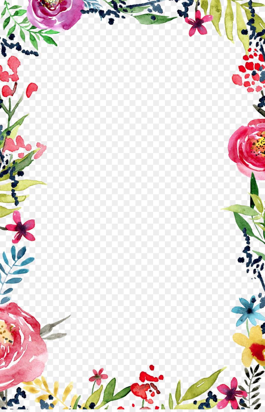 Descarga gratuita de Invitación De La Boda, Flor, Bordes Y Marcos imágenes PNG