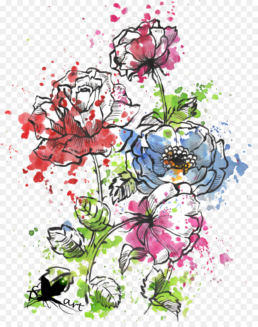 Descarga gratuita de Acuarela De Flores, Flor, Arte imágenes PNG