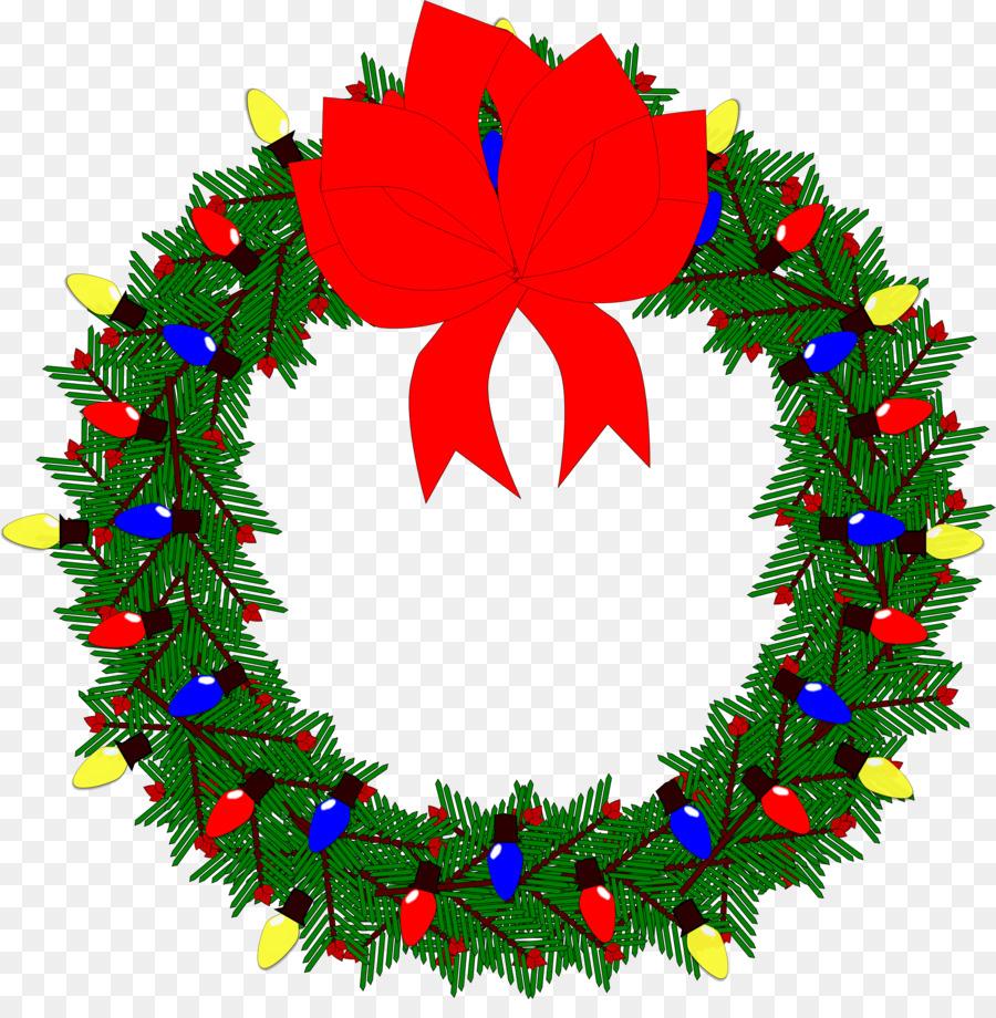 Descarga gratuita de La Navidad, Corona, Garland Imágen de Png