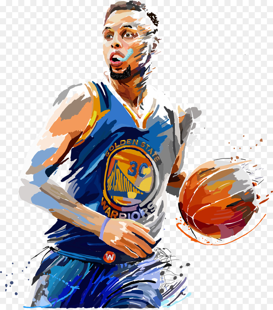 Descarga gratuita de Stephen Curry, Golden State Warriors, Pintura imágenes PNG