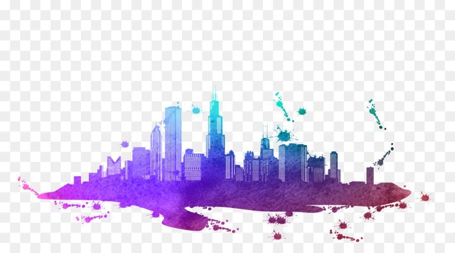 Descarga gratuita de Chicago, Seattle, Skyline Imágen de Png