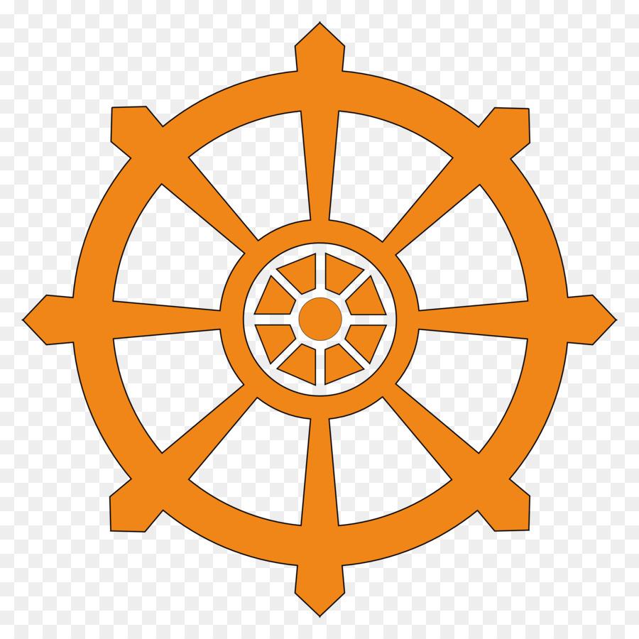 Descarga gratuita de Dharmachakra, Dharma, El Simbolismo Budista imágenes PNG