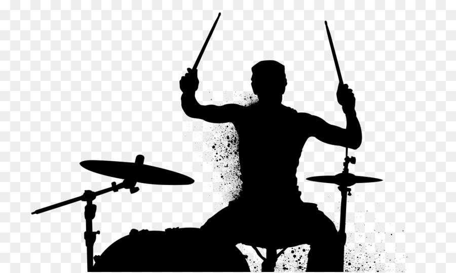 Descarga gratuita de El Baterista, Silueta, Percusión imágenes PNG