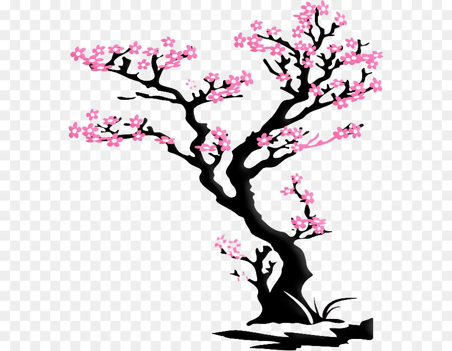 La Calcomanía De Pared, De Los Cerezos En Flor, Calcomanía