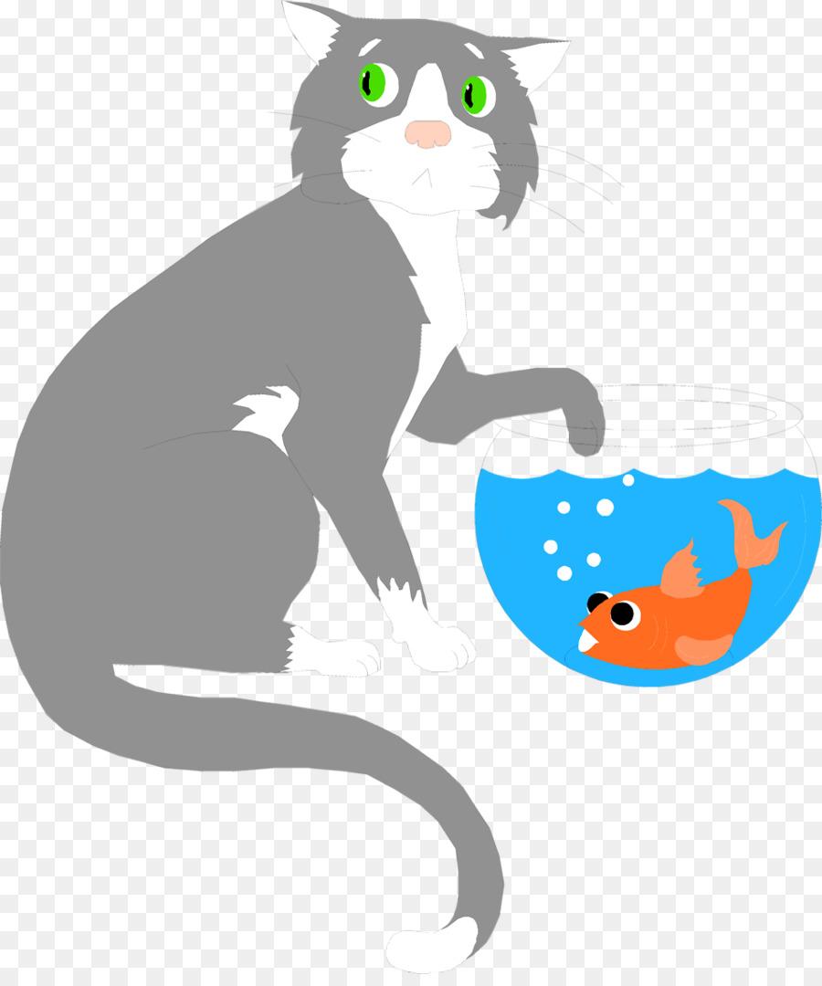 Descarga gratuita de Gato, Peces De Colores, La Comida Para Gatos imágenes PNG