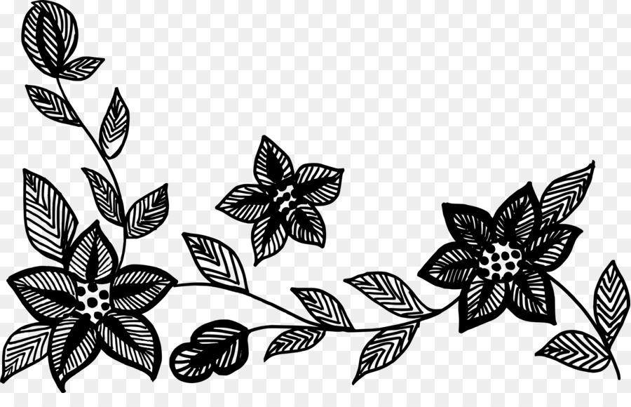 En Blanco Y Negro Flor Monocromo Imagen Png Imagen Transparente