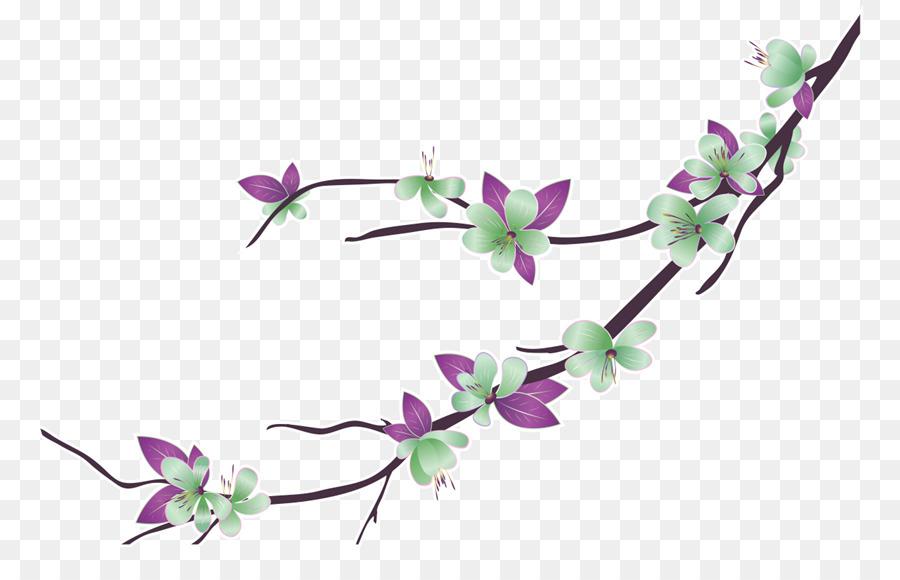 Flor, Rama, Dibujo Imagen Png