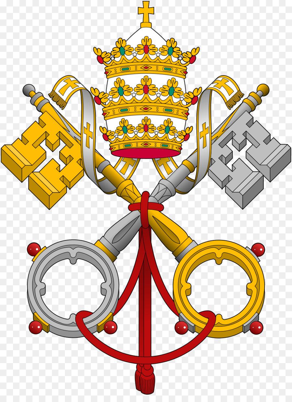 Descarga gratuita de Santa Sede, Palacio Apostólico, Escudos De Armas De La Santa Sede Y La Ciudad Del Vaticano Imágen de Png