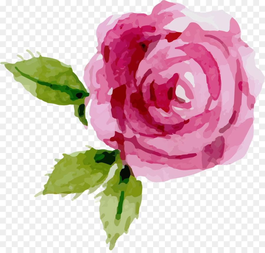Descarga gratuita de Pintura A La Acuarela, Flor, Rosa imágenes PNG