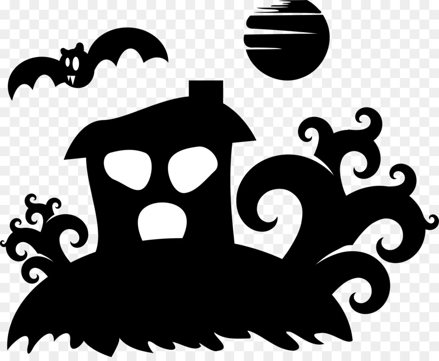 Descarga gratuita de Silueta, La Casa Encantada, Fantasma Imágen de Png