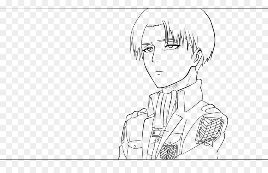 Mikasa Ackerman Ataque en Titán Dibujo Levi arte de Línea - detallada