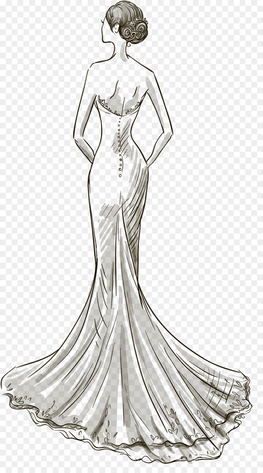 Vestido De Novia Dibujo Vestido Imagen Png Imagen