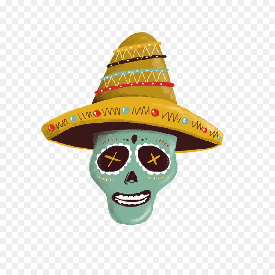 Descarga gratuita de Sombrero, México, Calavera imágenes PNG