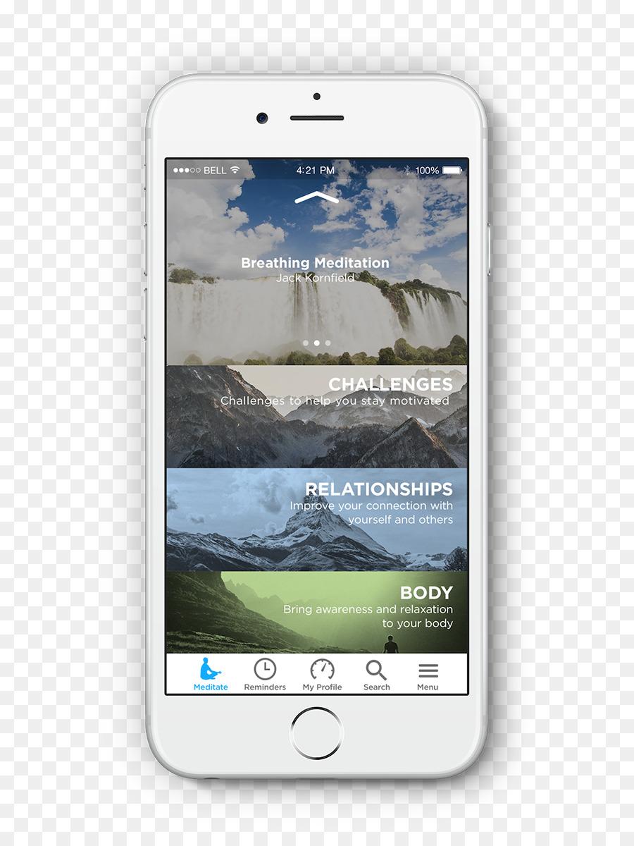 Descarga gratuita de Smartphone, Mindfulness, La Meditación imágenes PNG