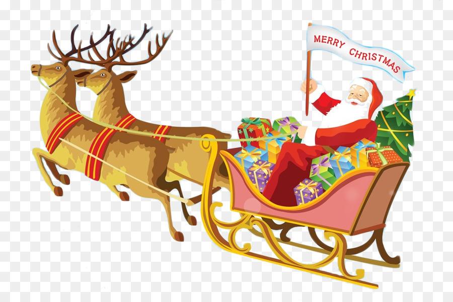 Descarga gratuita de Santa Claus, Reno, Rudolph Imágen de Png