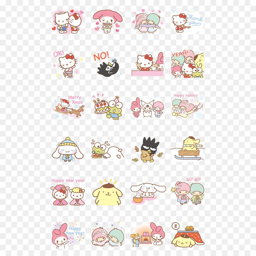 Descarga gratuita de Mi Melodía, Hello Kitty, Etiqueta Engomada De La Imágen de Png