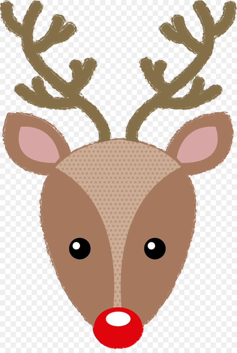 Descarga gratuita de Santa Claus, Rudolph, Reno Imágen de Png