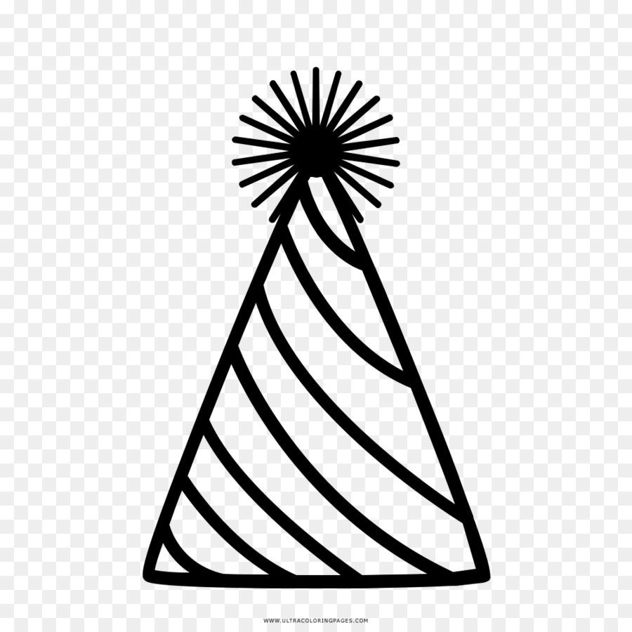 Dibujo Sombrero De Fiesta Libro Para Colorear Imagen Png