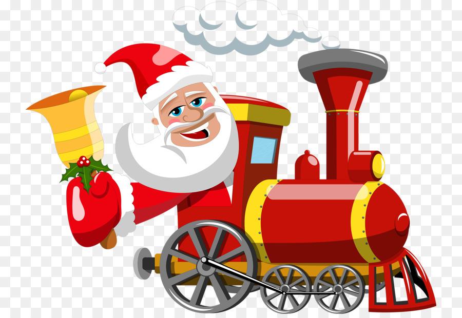 Descarga gratuita de Santa Claus, Tren, Regalo Imágen de Png