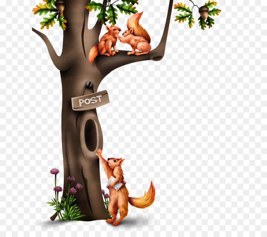 Descarga gratuita de árbol Hueco, árbol, Ardilla De árbol Imágen de Png