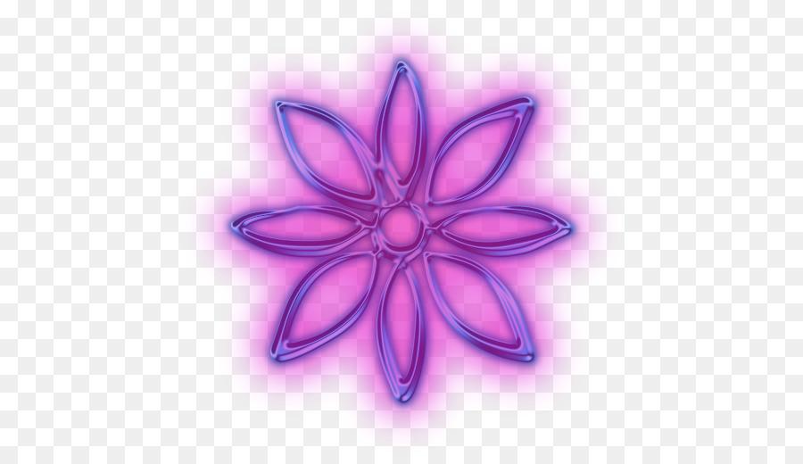 Descarga gratuita de Pétalo, Neon, Flor imágenes PNG