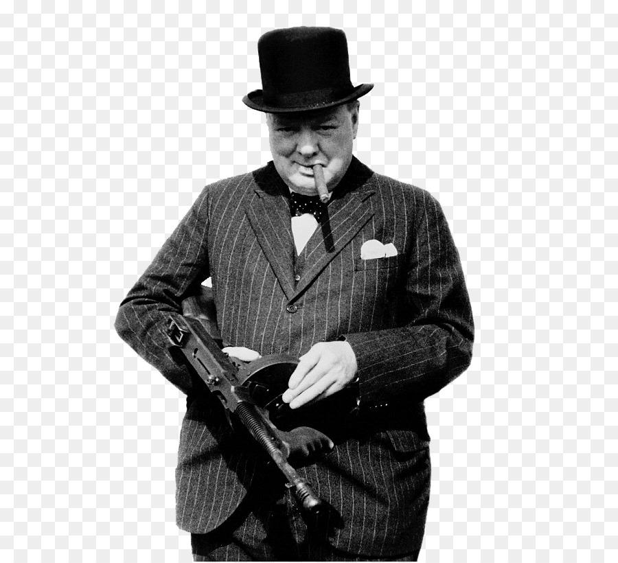 Descarga gratuita de Winston Churchill, Segunda Guerra Mundial, Subametralladora Thompson Imágen de Png