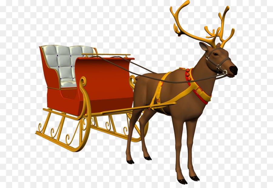 Descarga gratuita de Reno, Santa Claus, Trineo Imágen de Png