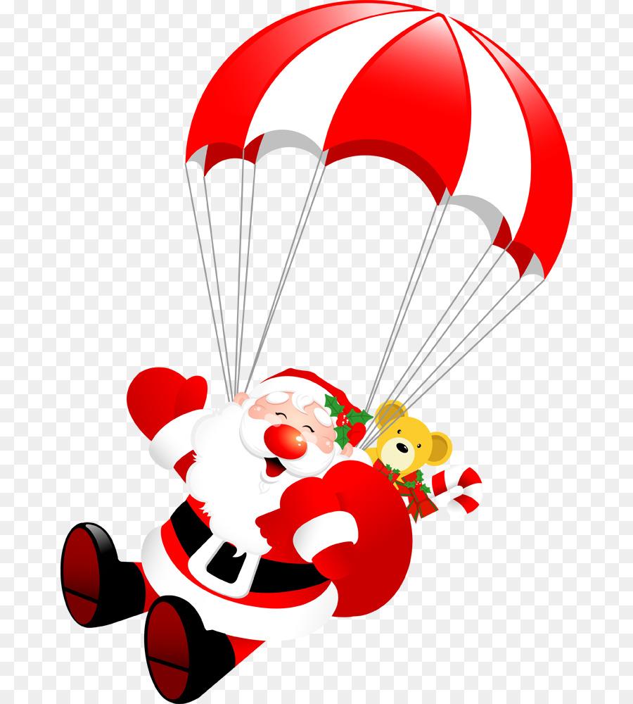 Descarga gratuita de Santa Claus, Paracaídas, La Navidad Imágen de Png