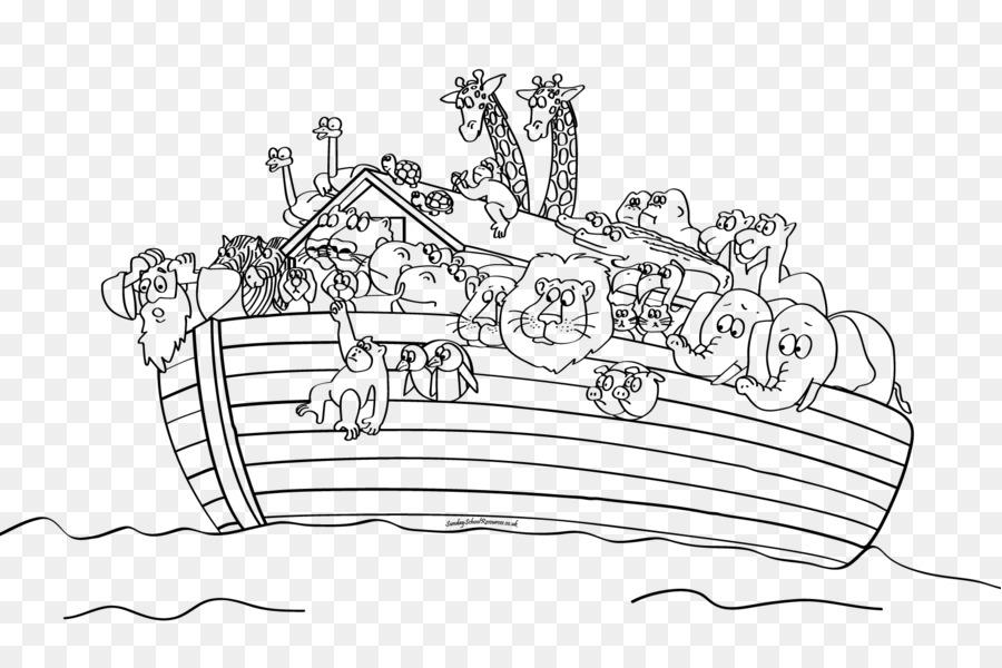 El Arca De Noé La Biblia Libro Para Colorear Imagen Png Imagen