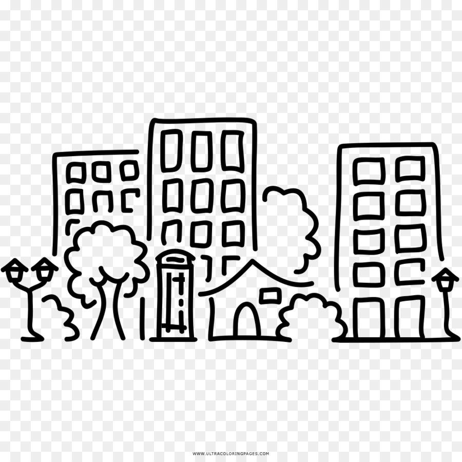 Libro Para Colorear Dibujo Ciudad Imagen Png Imagen