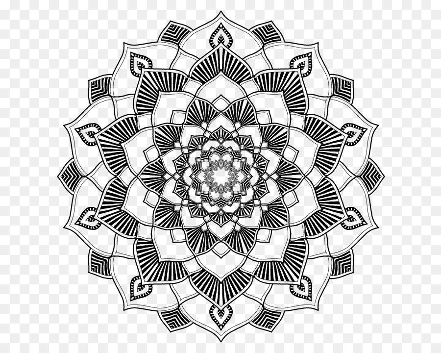 Descarga gratuita de Mandala, Libro Para Colorear, La Geometría Sagrada Imágen de Png