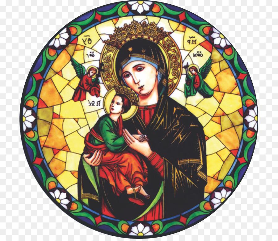 Descarga gratuita de María, Nuestra Señora Del Perpetuo Socorro, Vidrieras Imágen de Png