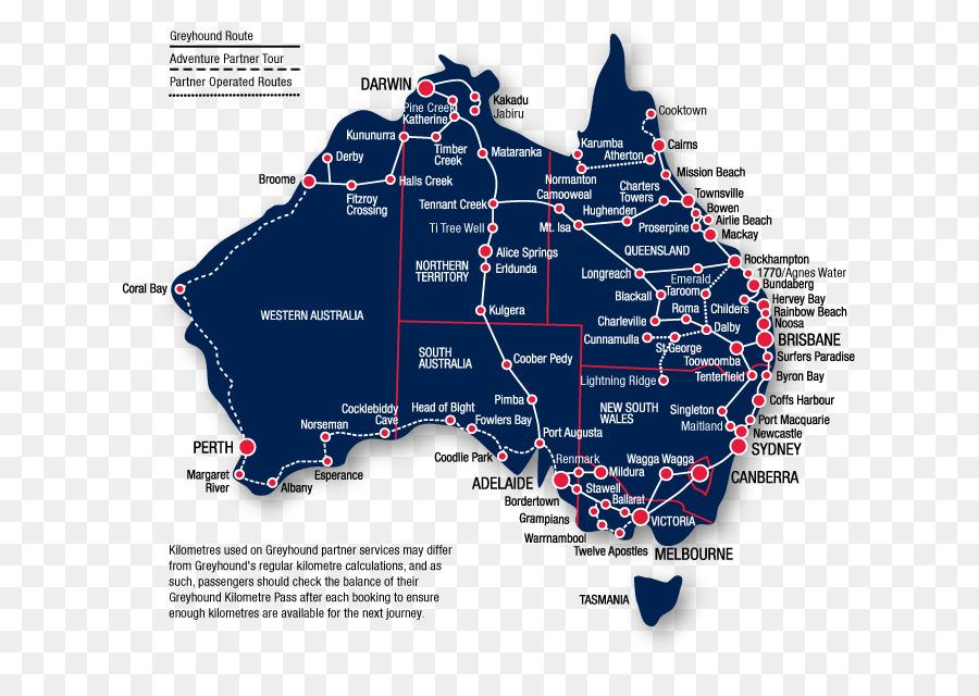 Estados Del Este De Australia Mapa Carretera Imagen Png Imagen