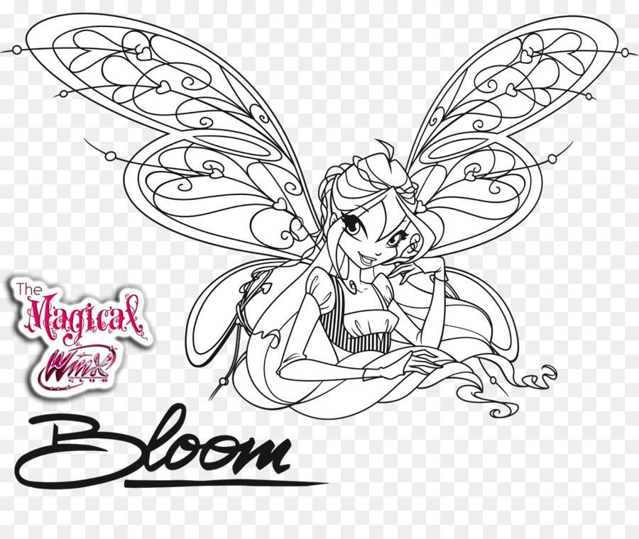 Bloom Musa Libro Para Colorear Imagen Png Imagen
