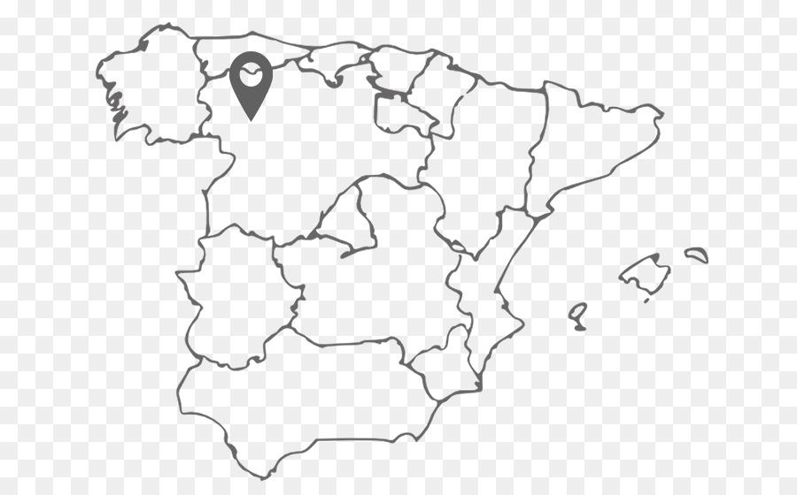 Mapa De Comunidades Autonomas En Blanco.Espana Mapa En Blanco Mapa Imagen Png Imagen