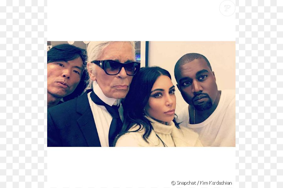 Descarga gratuita de Kim Kardashian, Karl Lagerfeld, Kanye West Imágen de Png