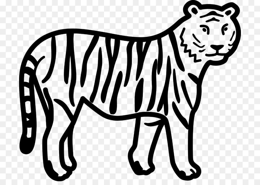 Tigre Libro Para Colorear León Imagen Png Imagen