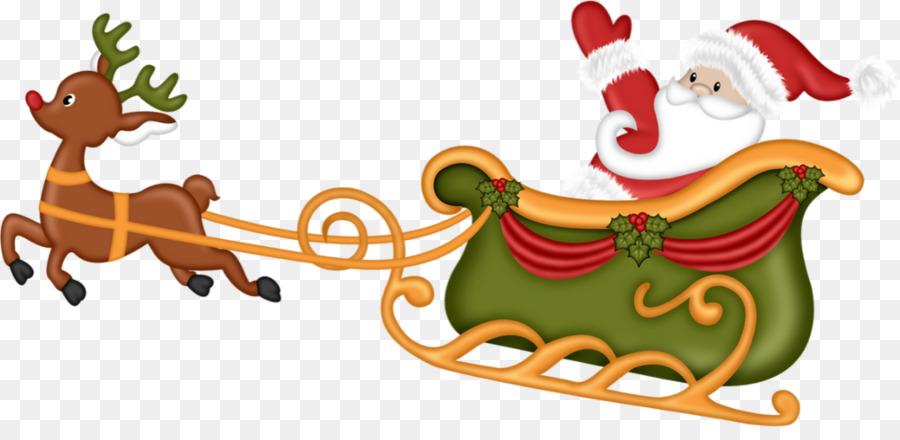 Descarga gratuita de Reno, Santa Claus, Trineo imágenes PNG