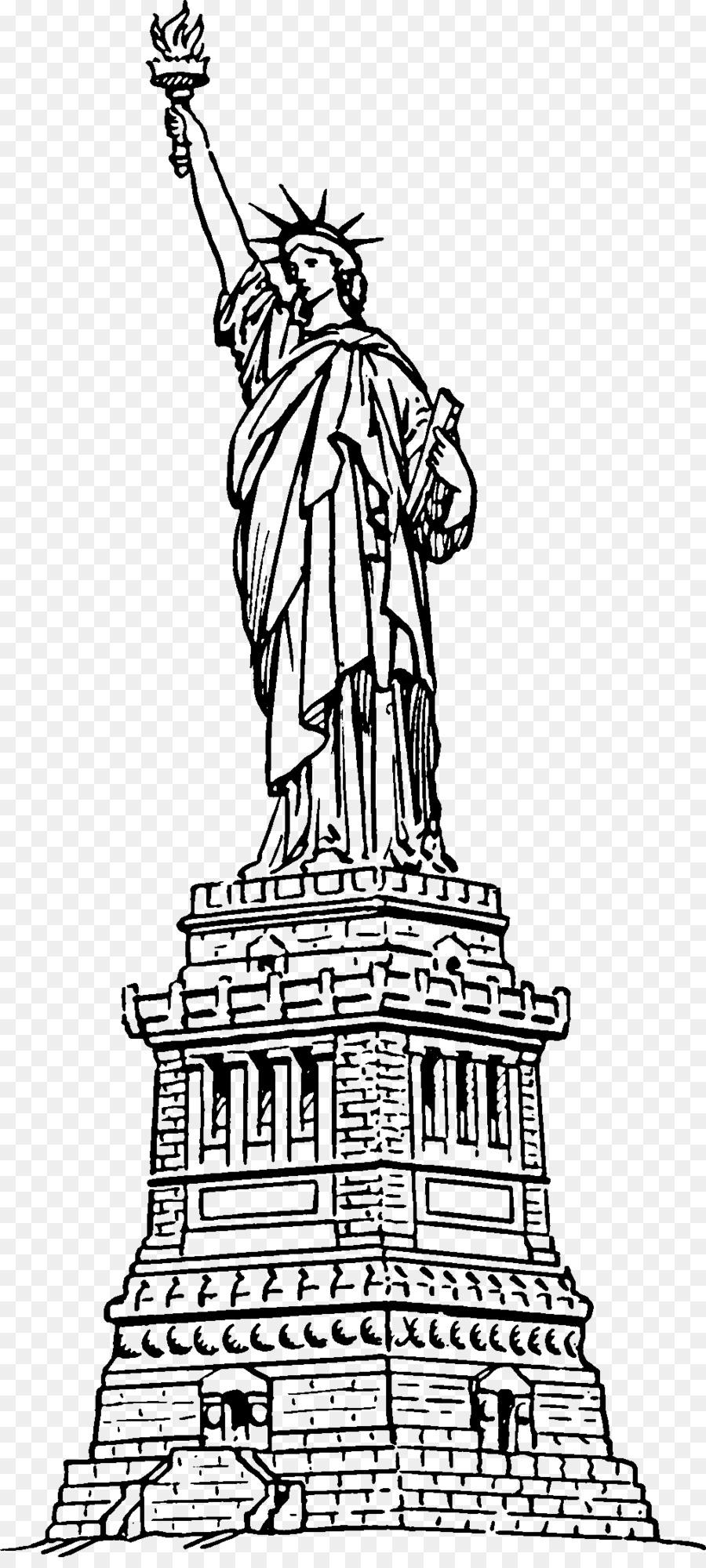 Estatua De La Libertad Libro Para Colorear Estatua Imagen